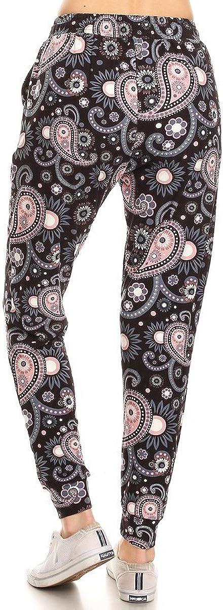 BAT4 S-XL Leggings Depot Premium Womens Joggers Popular Printed High Waist Track Yoga Full Pants
