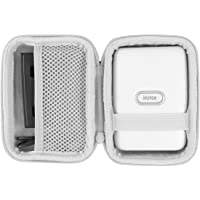 co2crea Hard Travel Case for Fujifilm Instax Mini Link Smartphone Printer (Ash White Case + Inside White)