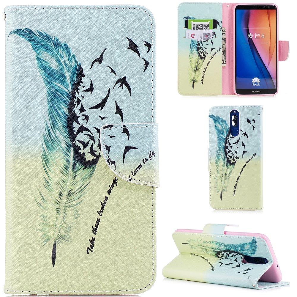 Orso Ooboom/® Huawei Mate 10 Lite Custodia Flip in Pelle PU Cuoio Copertura Case Cover Wallet Portafoglio Supporto con Carte di Credito e Porta Titolare di Cassa per Huawei Mate 10 Lite
