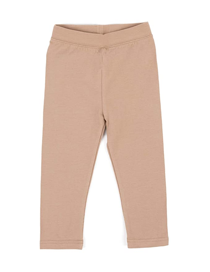 Variety Of Colors Leveret Beige Solid Girls Legging Size 2 Toddler - 14 Years