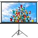 TaoTronics Projector Screen with Stand, 120 inch Projector Screen 4K HD with Wrinkle-Free Design, Outdoor Projector Screen fo