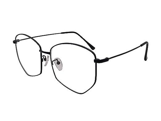 6de537bd355 XYAS Unisex Korean Style Retro Pentagon individually Reading Daily Glasses  Frames(Black)  Amazon.co.uk  Clothing