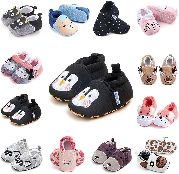 Amazon.com: Pantuflas de bebé de dibujos animados calcetines ...