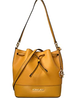 996197ab533a Michael Kors Trista Medium Drawstring Bucket Leather Shoulder Crossbody Bag  in Various Colors