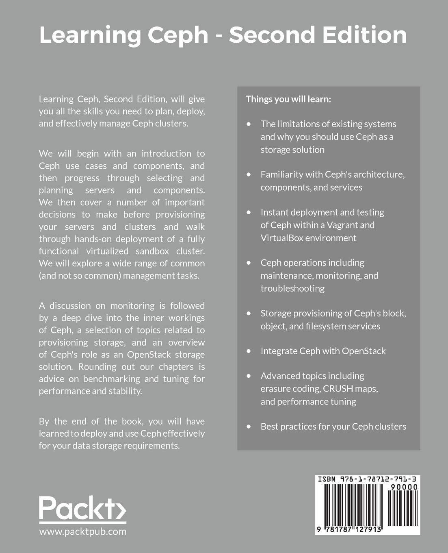 Learning Ceph - Second Edition - Livros na Amazon Brasil- 9781787127913