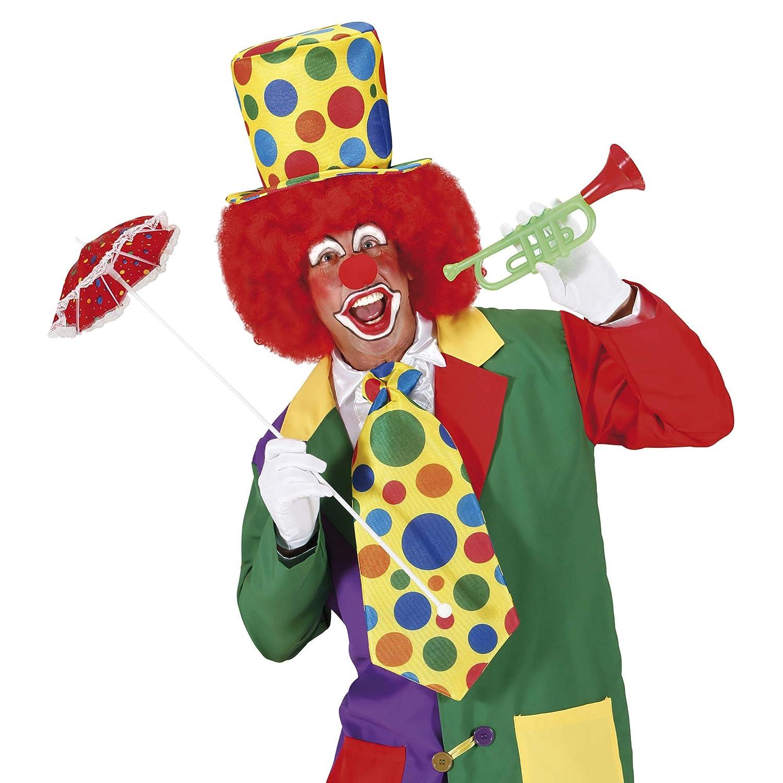 CF000106 Taille Unique Multicolore AEC- Chapeau Clown Haut de Forme Adulte