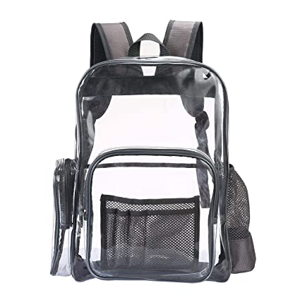 FOONEE Heavy Duty Clear Backpack, PVC Transparent Backpack Big Clear Backpack for Adults and Teenager