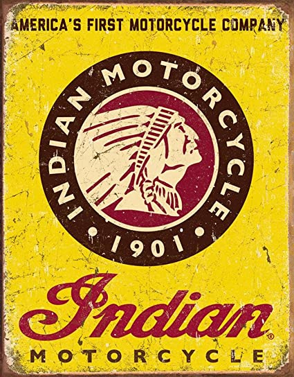 Amazon Indian Motorcycles Since 1901 Tin Sign 13 X 16in Automotive