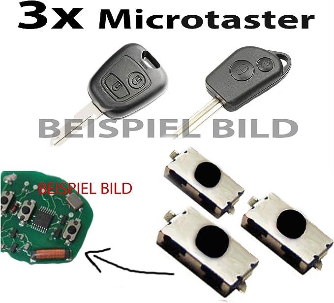 3x SchlÜssel Schalter Taster Micro Taster FÜr Citroen C1 C2 C3 C4 Xsara Picasso Berlingo Saxo Auto