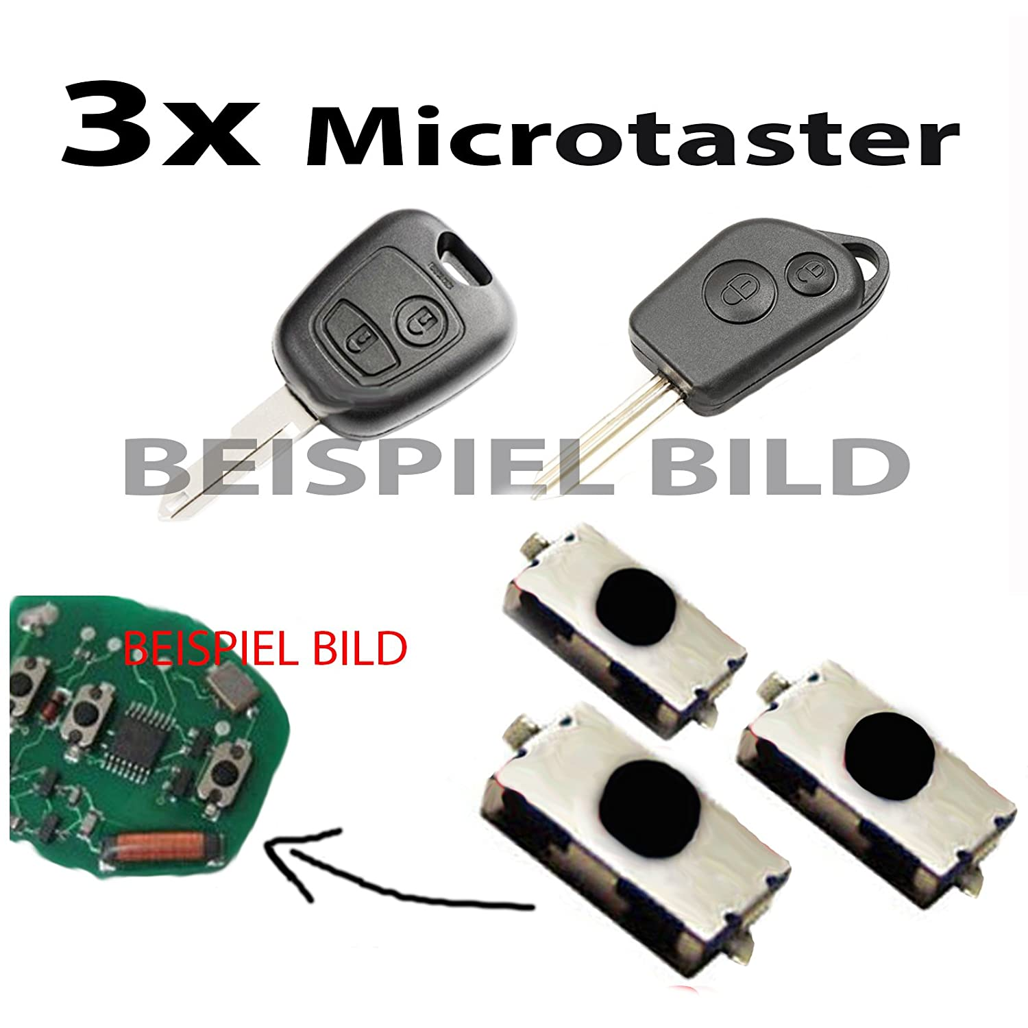 3x Micro Push Button//Switch//Micro Switch for Remote Control Car Keys
