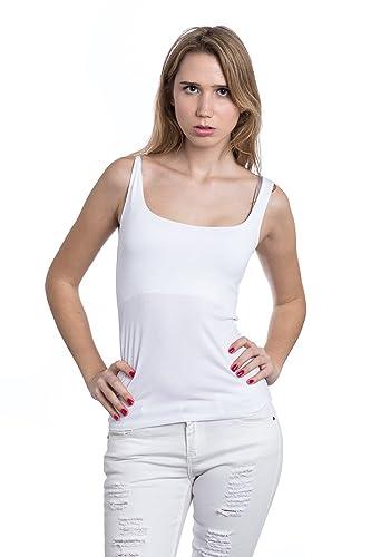 Abbino IG005 Basics Tops Camisetas Sin Mangas Para Müjeres - Hecho EN Italia - Colores Variados - Ca...