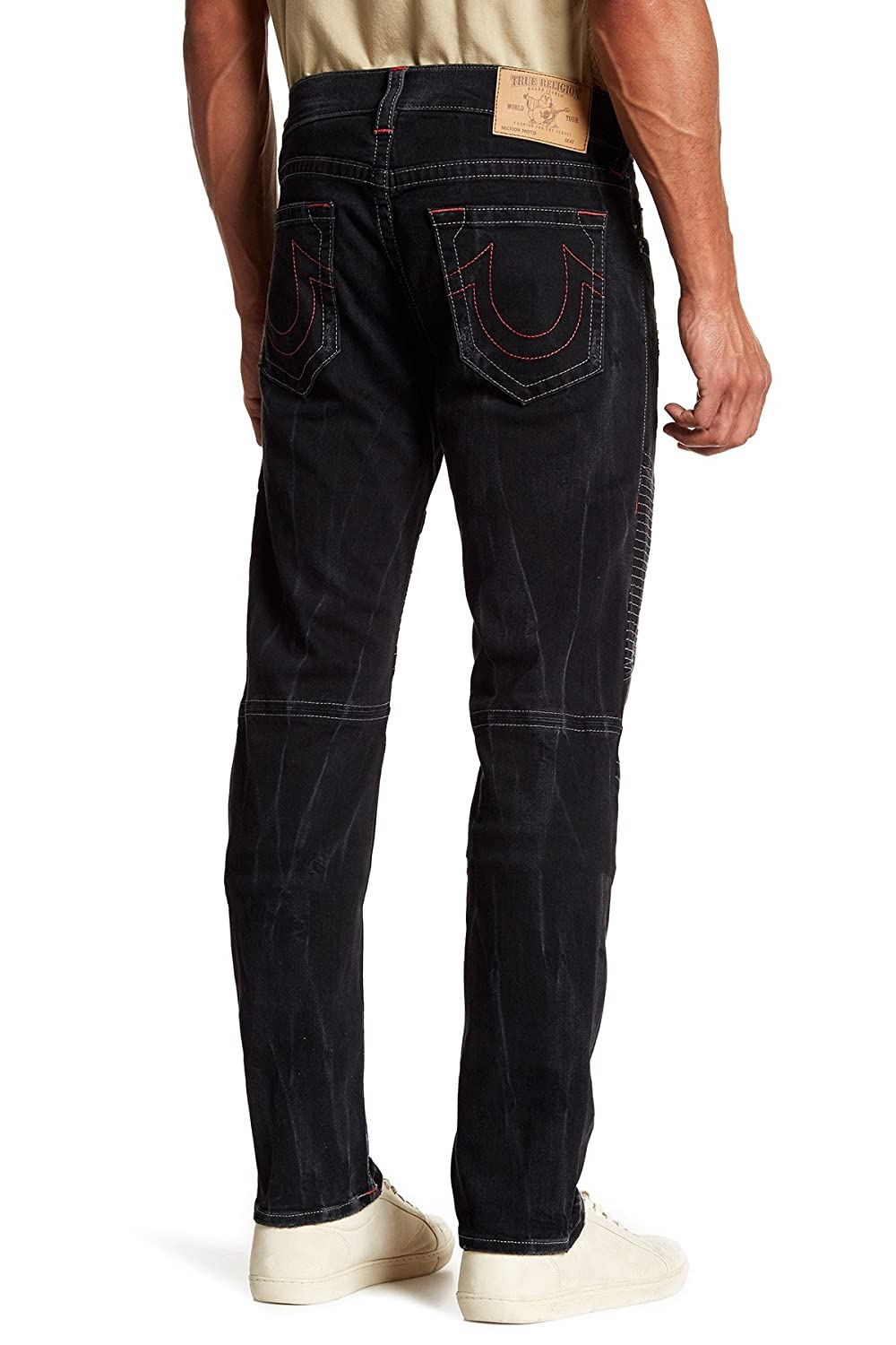 8a01a74d Amazon.com: True Religion Men's Skinny Moto Grey SN Red Jeans-38: Clothing