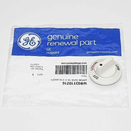 WB03T10138 GE Gas Valve Knob Genuine OEM WB03T10138