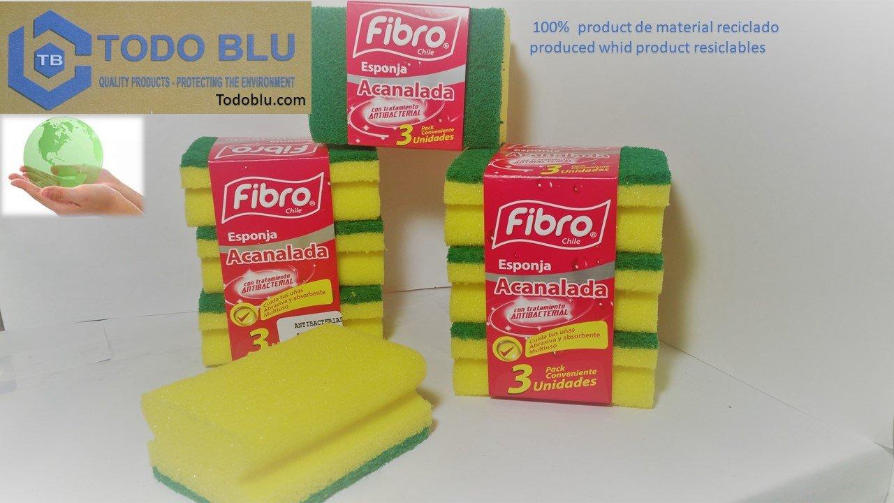 Fibro Sponge 100% Antibacterial Biodegradable - Nail Saver, 15 units