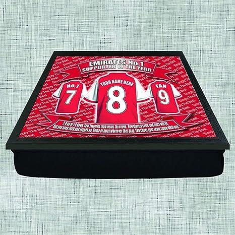 Arsenal Football Shirt Personalised Lap Tray