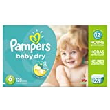 Amazon Price History for:Pampers Baby Dry Diapers Size 6, 128 Count