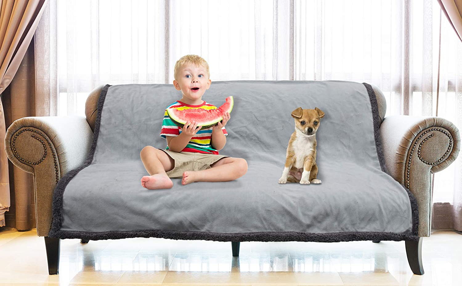 Fantastic Catalonia Waterproof Blanket Liquid Pee Proof Blanket For Bed Couch Sofa Protector Cover For Baby Cozy Sherpa Lining Throws And Blankets For Camping Pdpeps Interior Chair Design Pdpepsorg