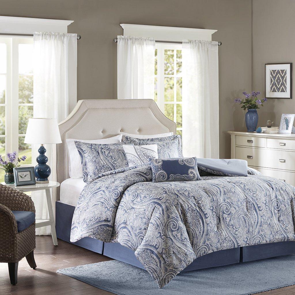 Harbor House Stella Cotton Sateen Printed 6 Piece Comforter Set Queen
