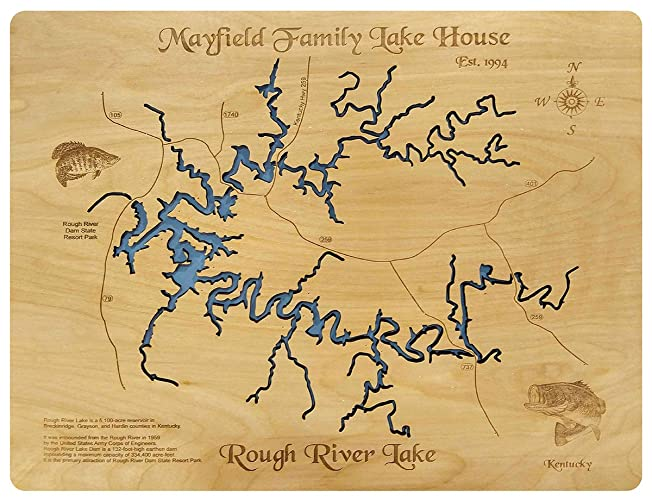 Rough River Lake Kentucky: Standout Wood Map Wall Hanging on franklin county on a map, united states map, vanderbilt on a map, coosa river on a map, osu on a map, wind cave on a map, coconino county on a map, smith mountain lake on a map, wyoming on a map, states on a map, brownsville on a map, kentucky on fire, wichita on a map, usa map, dearborn on a map, kentucky on us map, guangxi on a map, lake livingston on a map, caddo lake on a map, oak ridge on a map,