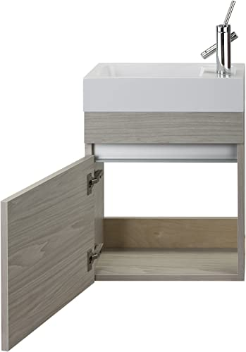 Cutler Kitchen Bath FVPICCWKND18 Sangallo 18 in. Space Saver Bathroom Vanity