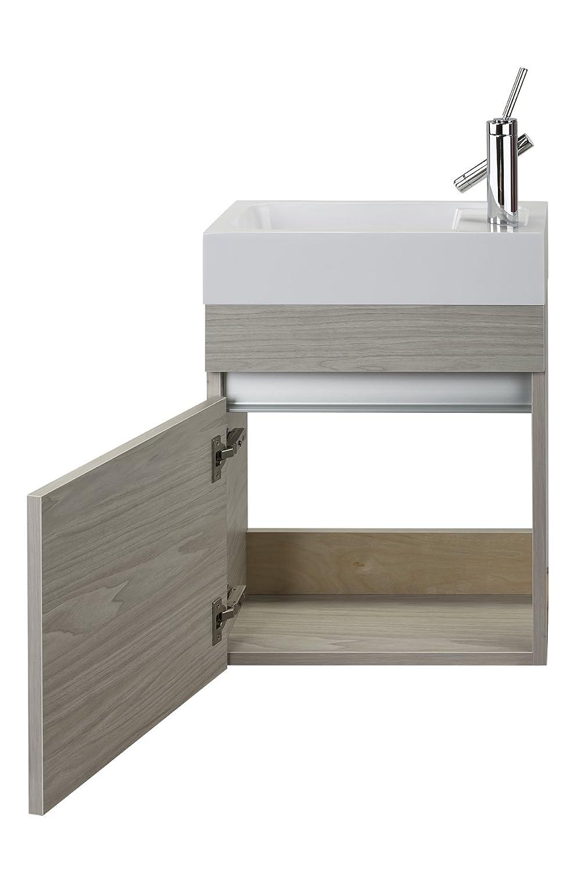Cutler Kitchen Bath Fvpiccwknd18 Sangallo 18 In Space Saver Bathroom Vanity 18 Inch White
