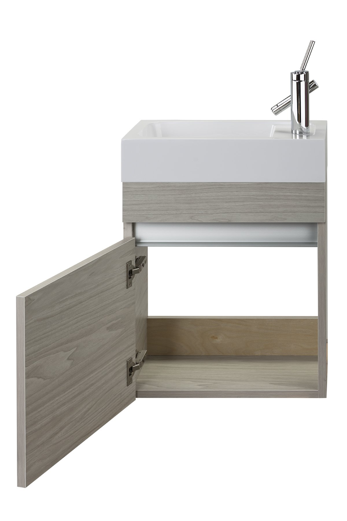 Cutler Kitchen & Bath FVPICCWKND18 Sangallo 18 in. Space Saver Bathroom Vanity, 18 inch, White - Includes cabinet Select from available finishes Wood construction - bathroom-vanities, bathroom-fixtures-hardware, bathroom - 71bCM47eCLL -