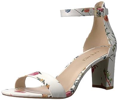 60f59d3d98d Nine West Women s Pruce Patent Dress Sandal White Multi 6.5 ...