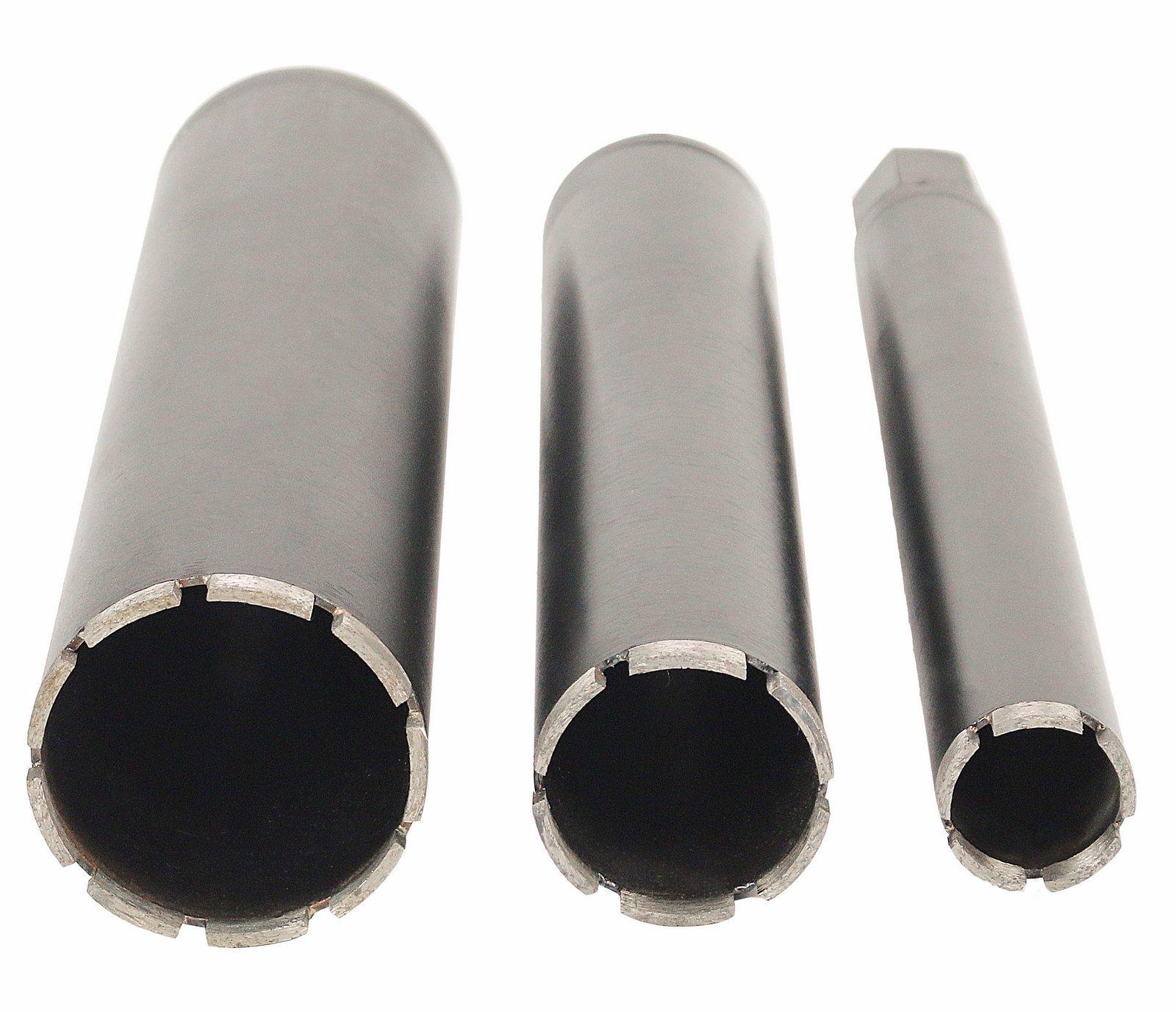 Steel Dragon Tools 3-Piece 2''-4'' Wet Laser Welded Diamond Core Drill Bits fit Hilti Milwaukee Rigs