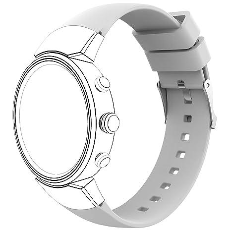 Gosuper para ASUS Zenwatch 3 Correa,Silicona suave Sport Reemplazar Correa para ASUS Zenwatch 3 band