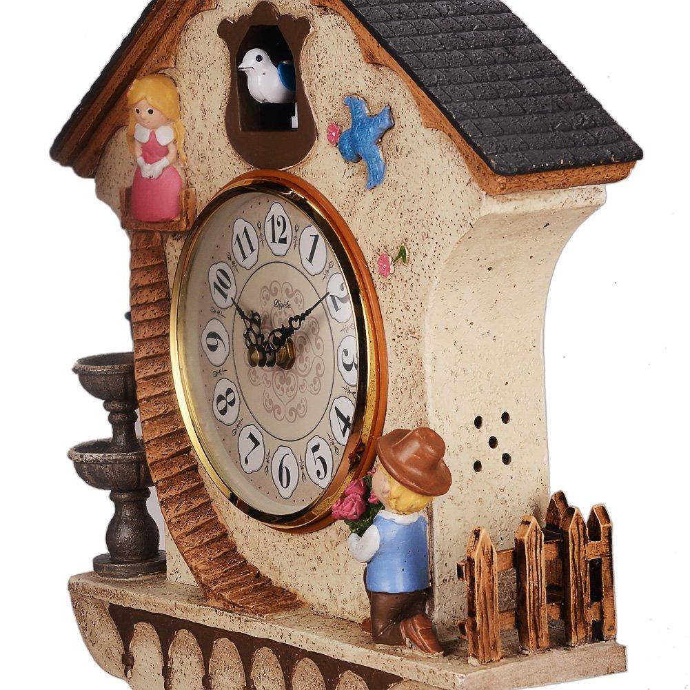 DIyida Vivid Large Cuckoo Clock Wall Cuckoo Clock,Chime has Automatic Shut-Off Kitchen Home