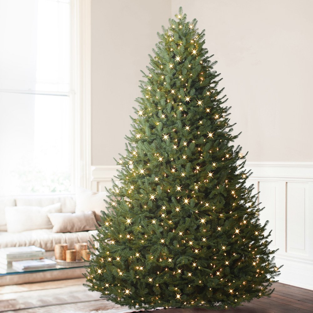 Balsam Hill BH Balsam Fir Premium Prelit Artificial Christmas Tree, 7.5 Feet, Clear Lights