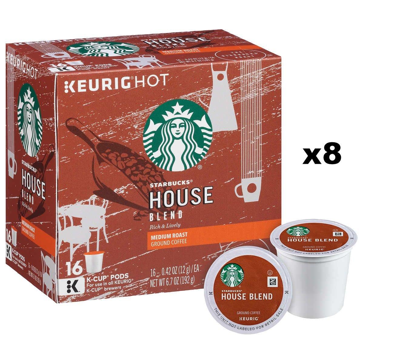 Starbucks House Blend Coffee K-Cups (128 K-Cups)