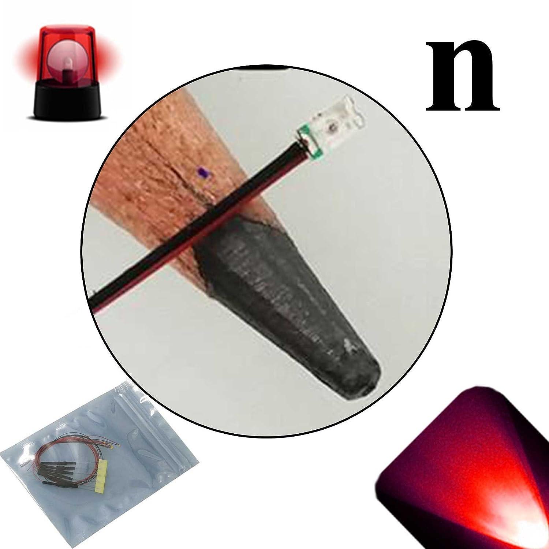 LED Uni-Color Red 697nm 2-Pin T-1 50 pcs