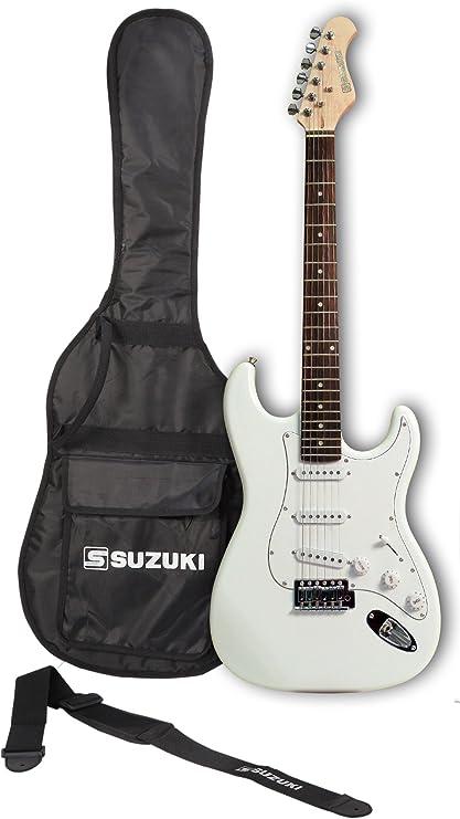 Suzuki sst1wh guitarra Stratocaster, color negro: Amazon.es ...