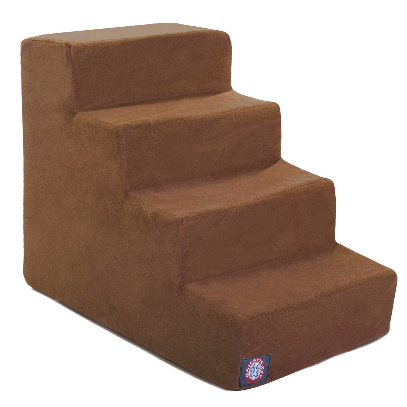 4 Step Rust Suede Pet Stairs By Majestic Pet Products