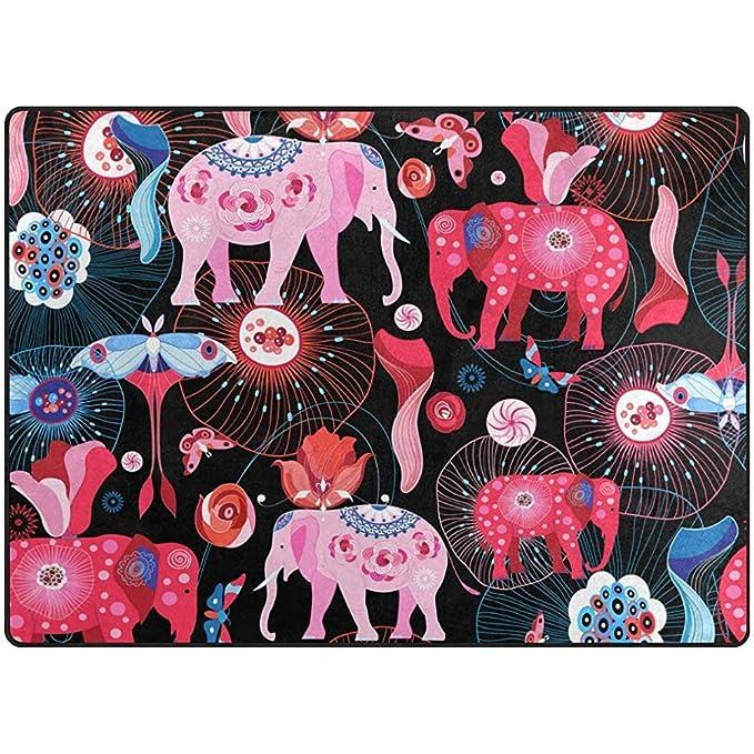 Raphaelont Alfombrilla Elefantes Étnicos Alfombras...