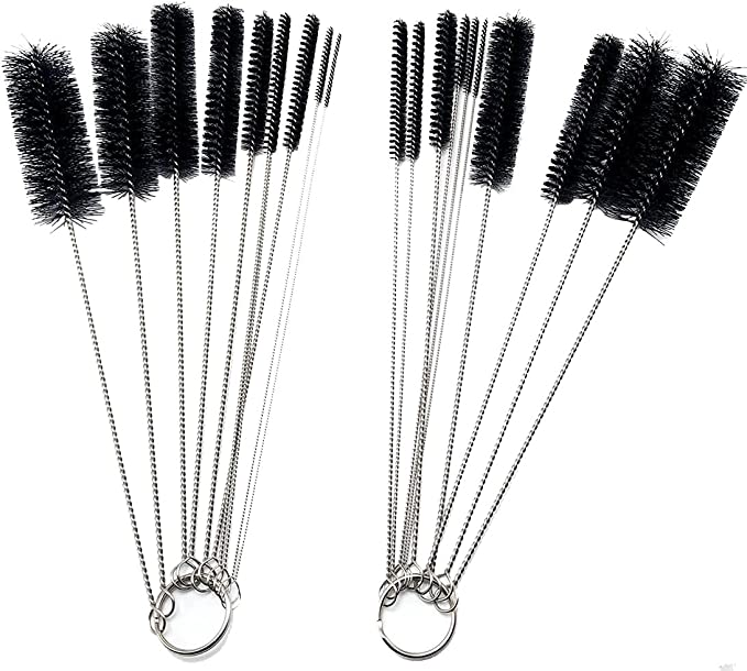 UHQ 8.2 Inch Kitchen Nylon Tube Brush Cleaning Brushes,20 Pcs