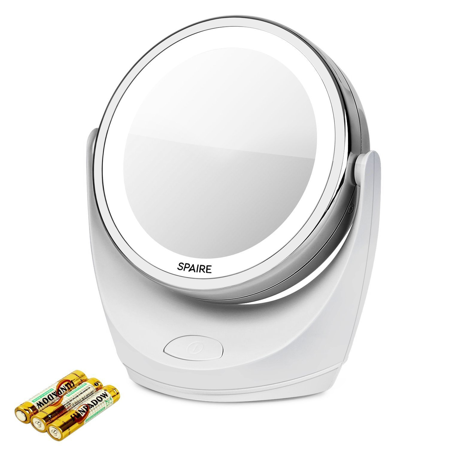 Makeup Mirror, USB Rechargeable Magnifying Cosmetic Tabletop Mirror (7X/1X) Spaire