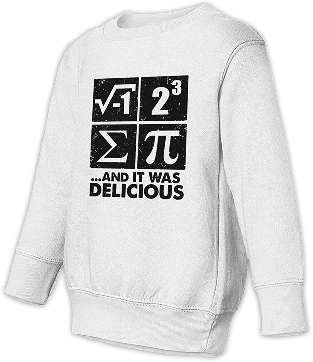 I Ate Some Pie and It was Delicious Boys Girls Pullover Sweaters Crewneck Sweatshirts Clothes for 2-6 Years Old Children