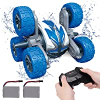 REMOKING Waterproof RC Stunt Car for Kids,2.4Ghz Amphibious All Terrain 6WD High Speed Remote Control Car, Double Sided…