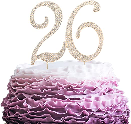 Amazon Com Lingpar 26 Years Birthday Cake Topper New Best