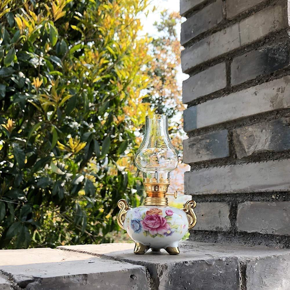 SDK Keramische Kerosin-Lampe langes Licht Nostalgic Butter Lamp Retro Style Home Decoration