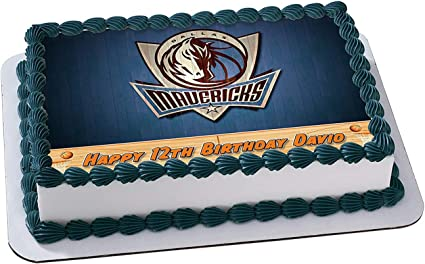 Outstanding Amazon Com Dallas Mavericks Basketball Edible Image Cake Topper Birthday Cards Printable Benkemecafe Filternl