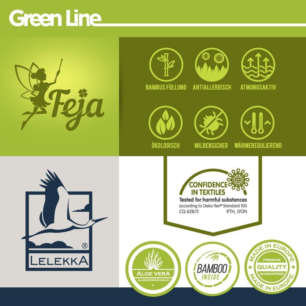 feja by lelekka/® Premium Coussin b/éb/é//40/x 60/cm Housse de coussin plat avec garnissage en bambou /& Aloe Vera pour peaux sensibles