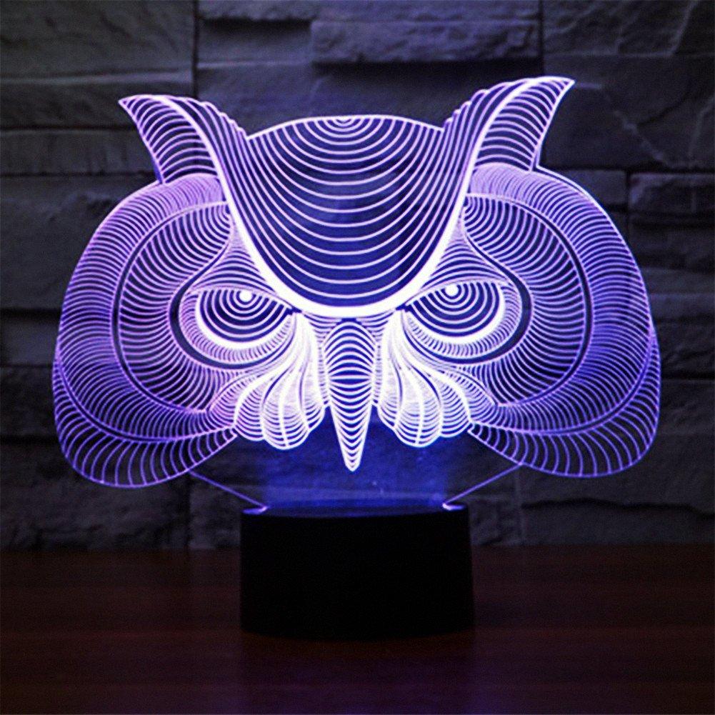 馬/ Owl Night Light and交換可能プレート YKLLGT446 B01N07JD7A 11316 Owl-4 (Package) Owl4 (Package)