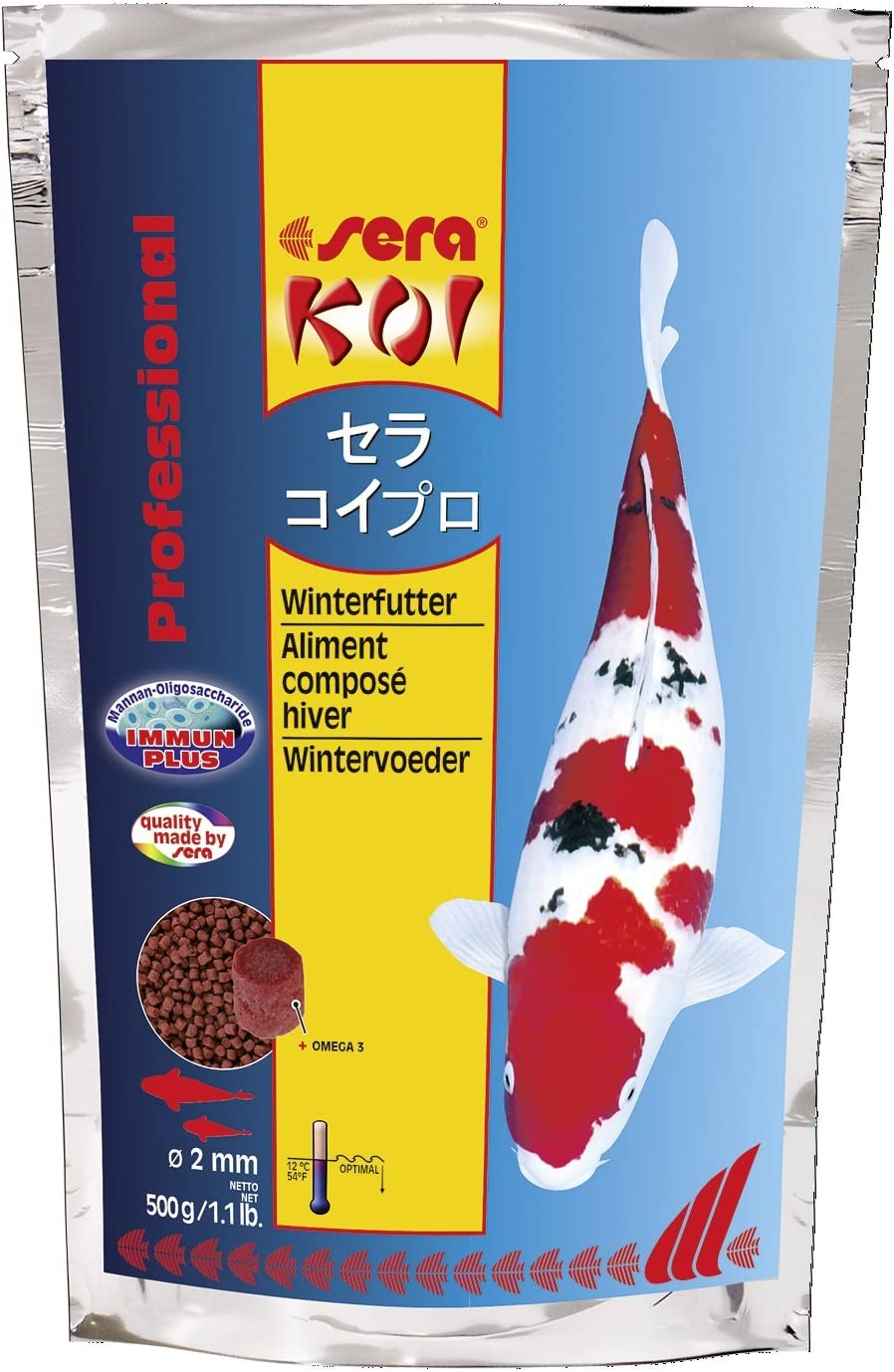 Sera 1 Piece KOI Professional Winter Food, 1.1 lb/500 g
