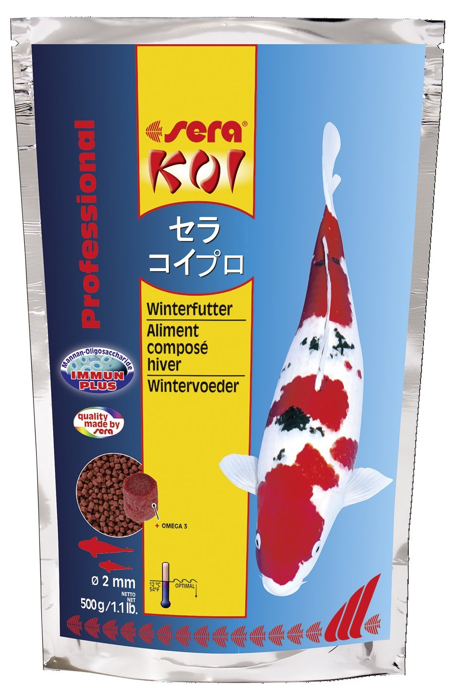 sera 07017 KOI Professional Winterfutter 500 g - Spezialfutter für Koi und andere wertvolle Teichfische bei Temperaturen unter 12 °C Aquarium Fischfutter