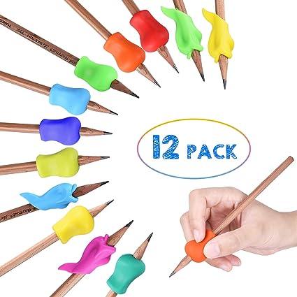 Henreal 3/pz//set bambini scrittura correzione della postura dispositivo silicone portamatite penna scrittura aiuti grip Tool Student cancelleria