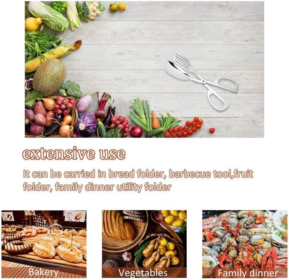 K/üche Kochen Zangen Integrity.1 Edelstahl-Salatzange Verschiedene Snacks Scheren Salatzange f/ür Salat Buffet Edelstahl-Mini-Servierzange Buffetzange Brot Kuchen