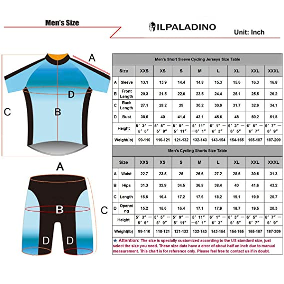 Amazon.com  ILPALADINO Men s Cycling Jersey Clothing Set Short Sleeve Fish  Animals Pattern  Clothing a4bb1e774